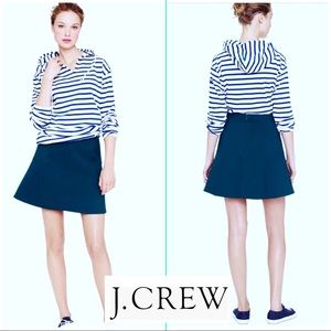NWOT J.Crew Navy Blue Flounced Mini Skirt